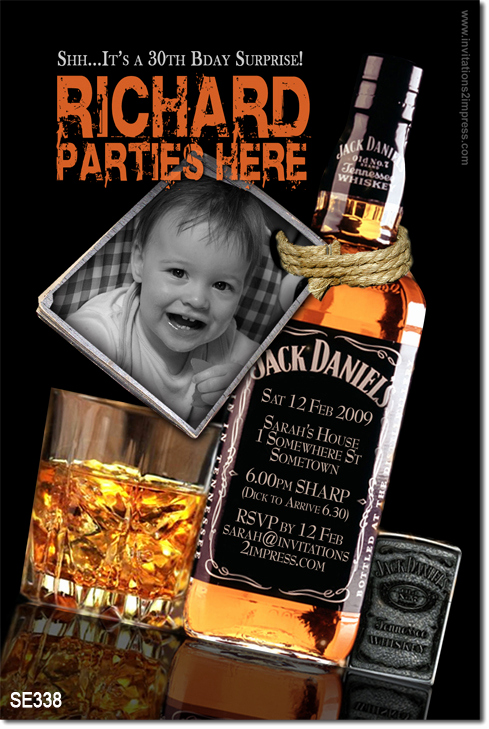 Jack Daniels Invitation Template Free Lovely Se338 Adult Birthday Jack Daniels Mens Birthday