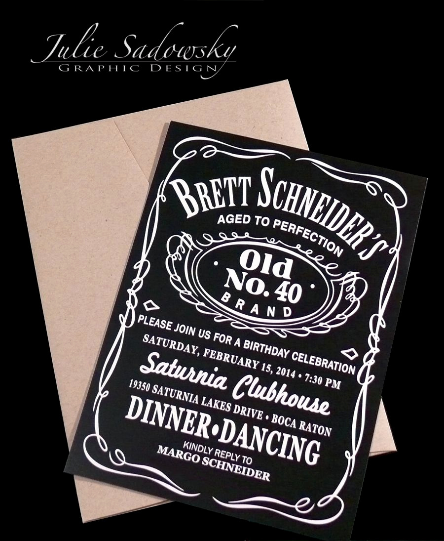 Jack Daniels Invitation Template Free Luxury Jack Daniels theme Birthday Party Invitation the Brown