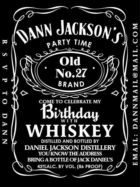 Jack Daniels Invitation Template Free Luxury Unavailable Listing On Etsy
