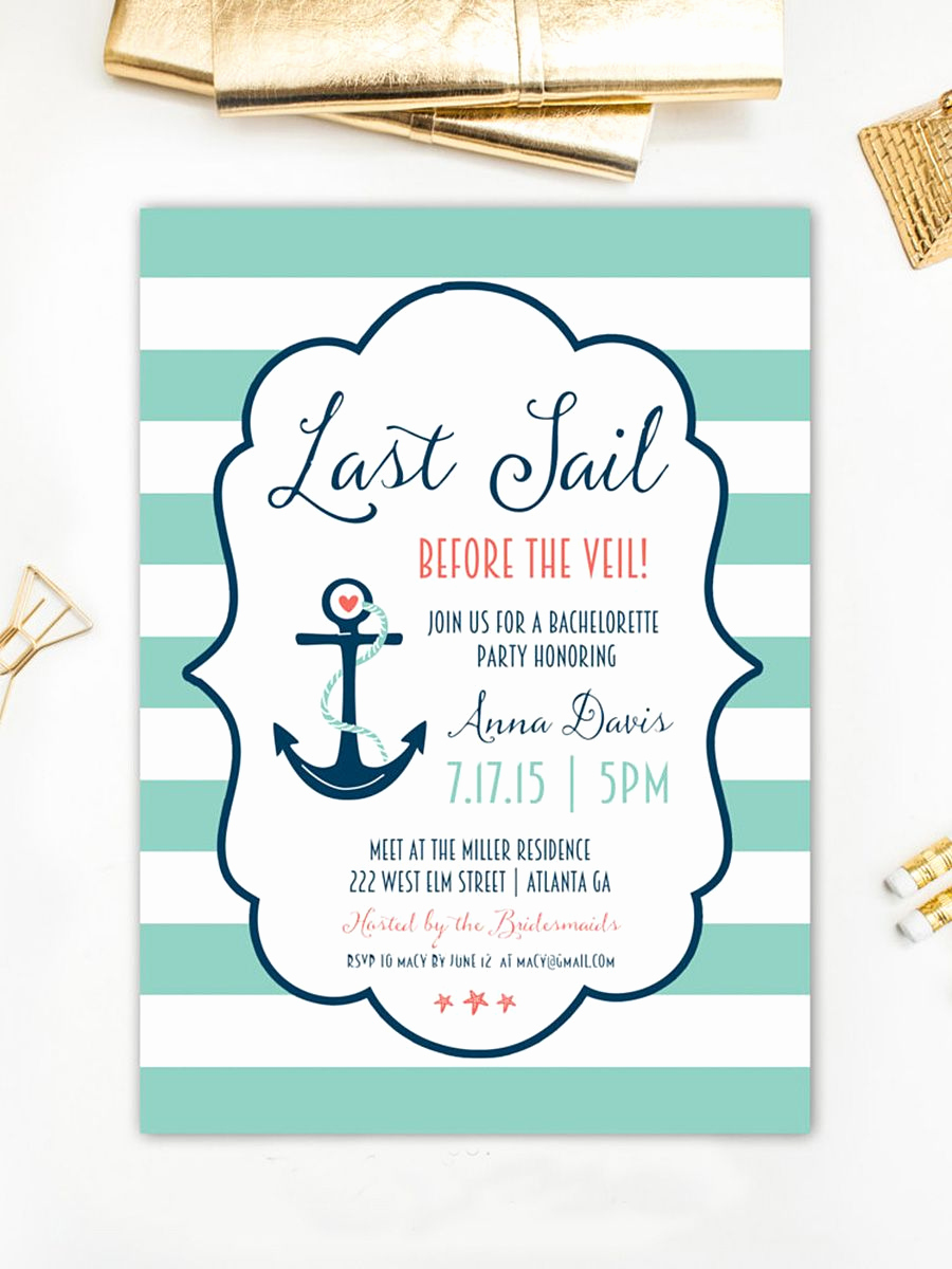 Jewelry Party Invitation Template Luxury 14 Printable Bachelorette Party Invitation Templates