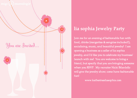 Jewelry Party Invitation Template Luxury Katherine S Lia sophia Jewelry Party Line Invitations