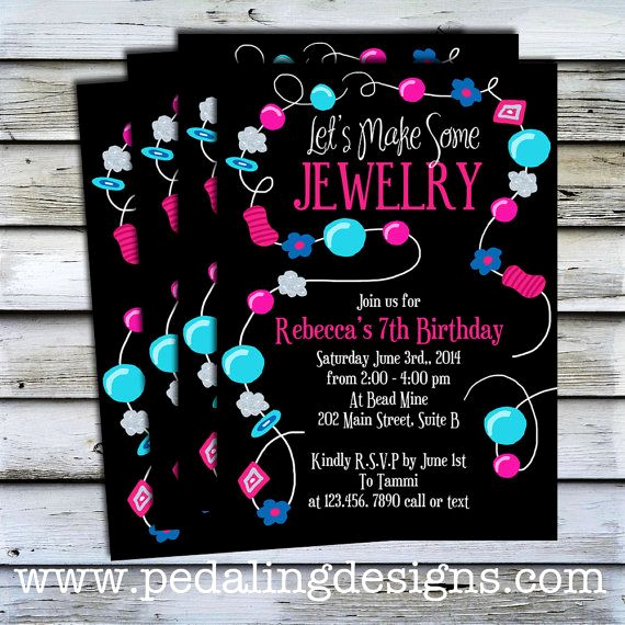Jewelry Party Invitation Template Unique 17 Best Images About Jewelry Making Party On Pinterest
