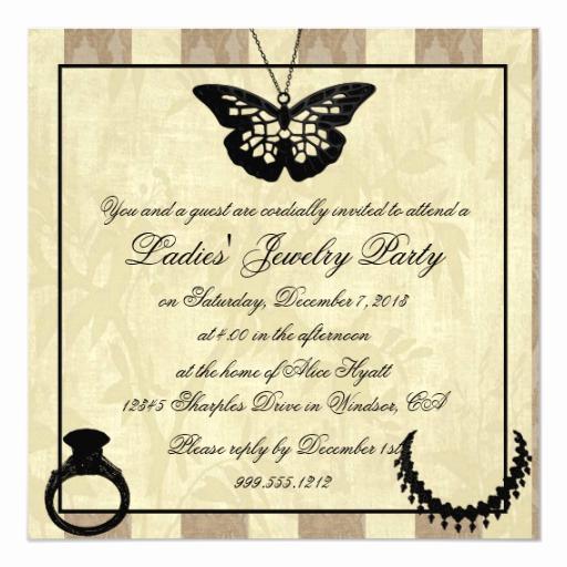 Jewelry Party Invitation Template Unique Fancy La S Jewelry Party Invitations