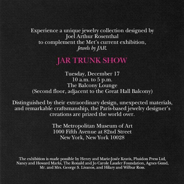 "Jewelry Trunk Show Invitation Beautiful ""trunk Show"" — A Deplorable Development at the Met"