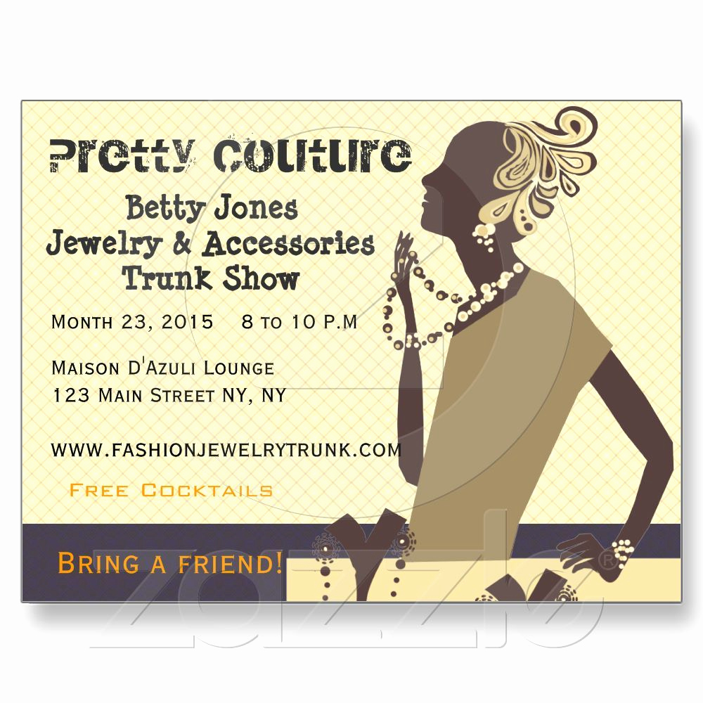 Jewelry Trunk Show Invitation Best Of Fashion Pretty Couture Jewelry Trunk Show Invitation