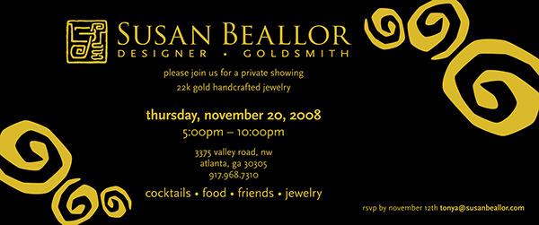 Jewelry Trunk Show Invitation Fresh Jewelry Trunk Show Invitation On Behance