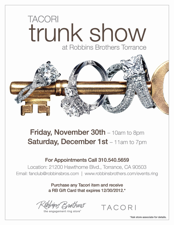Jewelry Trunk Show Invitation Inspirational Blingin Bridal and Fashion Jewelry at Tacori Trunk Show