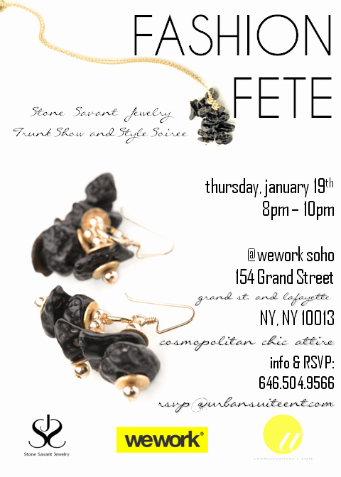Jewelry Trunk Show Invitation Inspirational Stone Savant Jewelry Trunk Show & Style soiree
