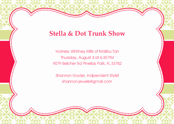 Jewelry Trunk Show Invitation Lovely Stella & Dot Trunk Show Line Invitations & Cards by