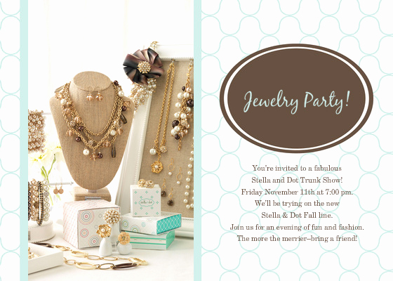 Jewelry Trunk Show Invitation Sample Awesome Jewelry Party Line Invitations & Cards by Pingg