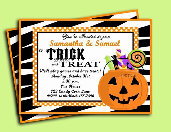 Jewelry Trunk Show Invitation Sample Elegant Halloween Invitation Printable Trick or Treat Collection