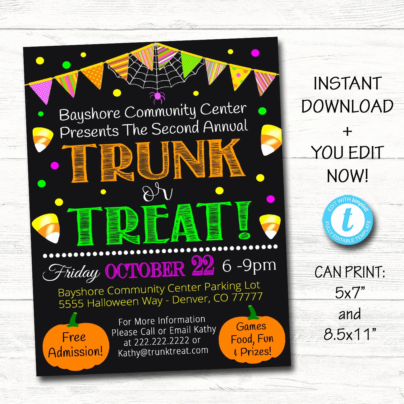 Jewelry Trunk Show Invitation Sample Lovely Editable Trunk or Treat Flyer Invitation Printable