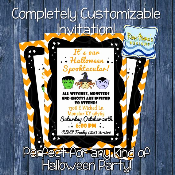 """Jewelry Trunk Show Invitation Sample Lovely Items Similar to Printable Halloween """"spooktacular"""" Party"""