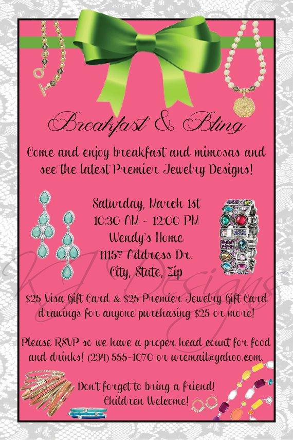 Jewelry Trunk Show Invitation Sample Lovely Jewelry Party themes Jewelry Ufafokus