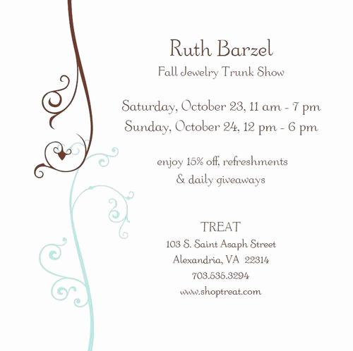 Jewelry Trunk Show Invitation Sample Luxury Treat S Sweet Talk