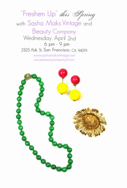 Jewelry Trunk Show Invitation Sample Luxury Vintage Jewelry • Sasha Maks Vintage