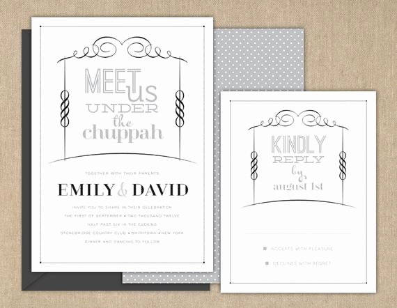 Jewish Wedding Invitation Wording Beautiful Items Similar to Wedding Invitations Jewish Wedding