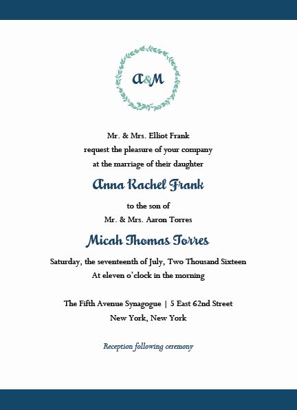 Jewish Wedding Invitation Wording Beautiful Jewish Wedding Invitations & Rsvp with Envelopes