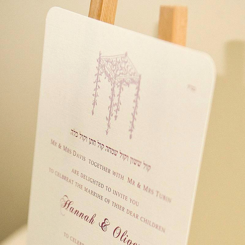 Jewish Wedding Invitation Wording Inspirational Personalised Jewish Wedding Invitations by Beautiful Day