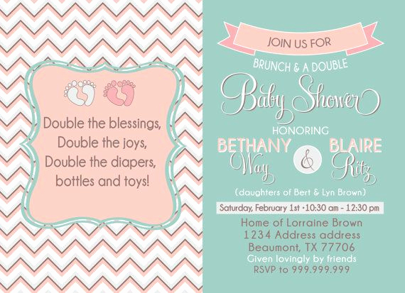 Joint Baby Shower Invitation Wording Beautiful Couples Baby Shower Invitation Joint Shower