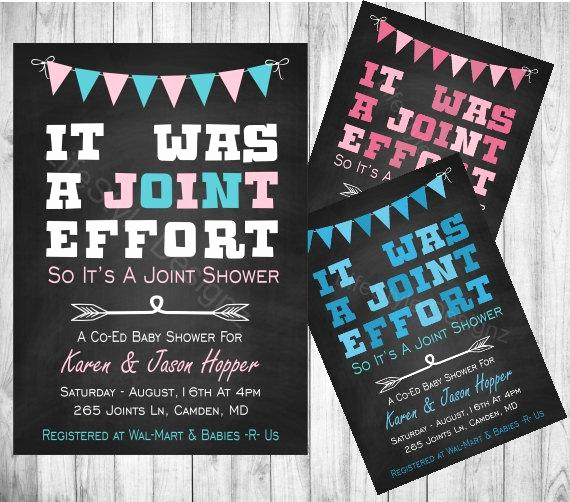 Joint Baby Shower Invitation Wording Fresh Its Was A Joint Effort Baby Shower Invitation Fun Invite