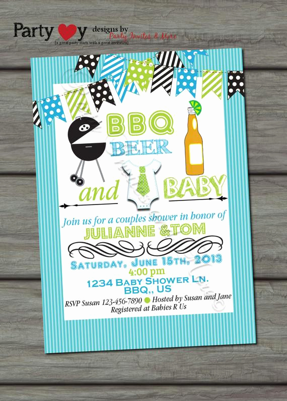 Joint Baby Shower Invitation Wording Luxury Items Similar to Beer Bbq and Baby Joint Baby Shower Boy