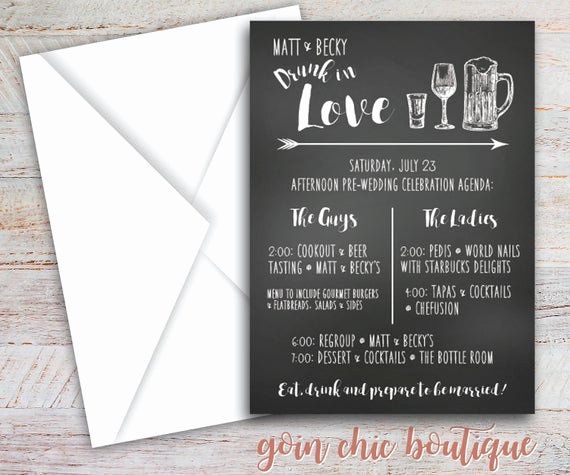 Joint Bachelor Bachelorette Party Invitation Beautiful Chalkboard Bachelorette Party Invitation Jack and Jill