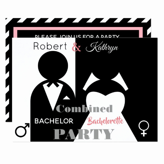Joint Bachelor Bachelorette Party Invitation Elegant Naughty Bachelorette Party Invitations