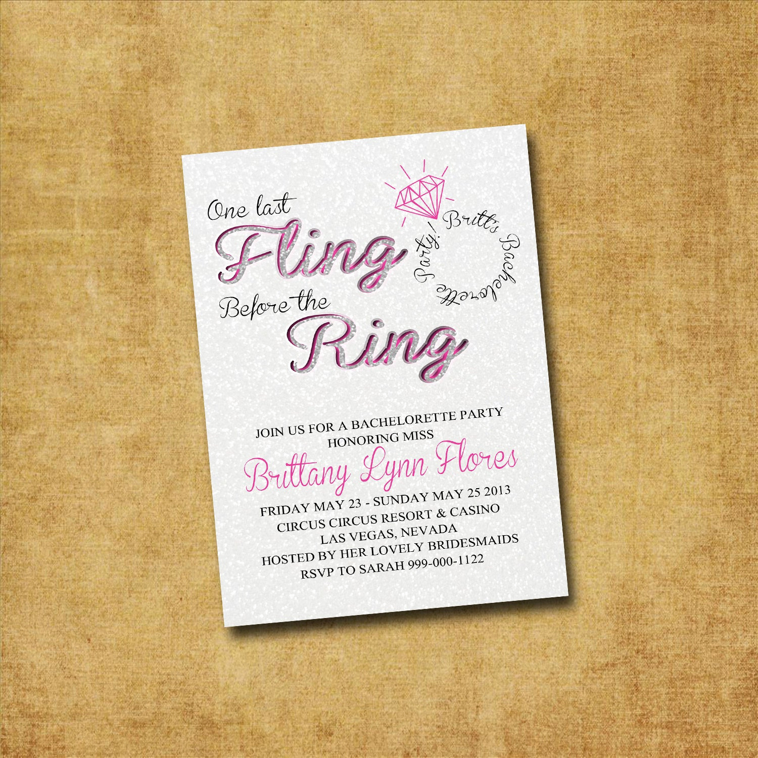 Joint Bachelor Bachelorette Party Invitation Lovely Printable Bachelorette Invitation Fling before the by