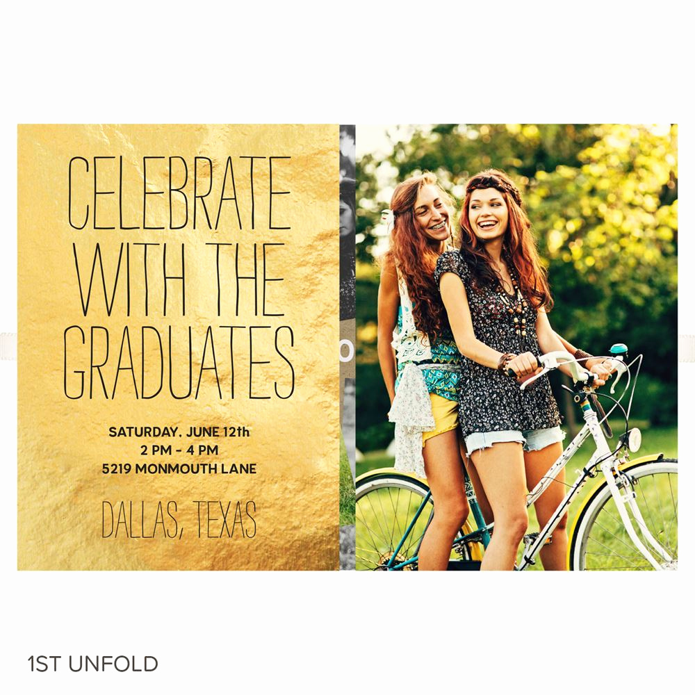 Joint Graduation Party Invitation Wording Awesome Joint Party Gold Ribbon Booklet Graduation