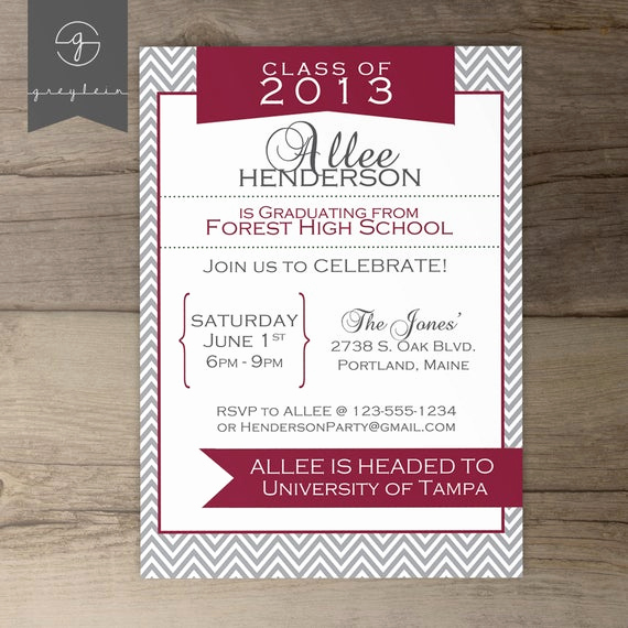 Joint Graduation Party Invitation Wording Beautiful Items Similar to Printable Graduation Invitation