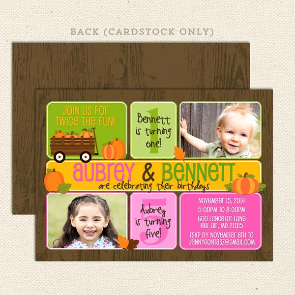 Joint Graduation Party Invitation Wording Best Of Fall Pumpkin Patch Joint Birthday Invitations – Lil