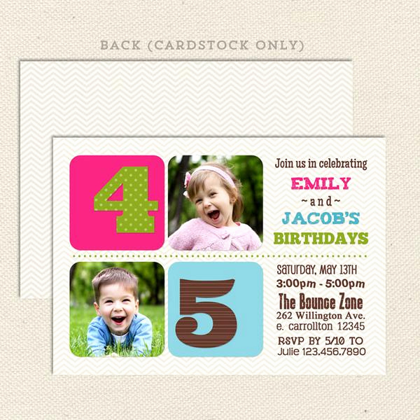 Joint Graduation Party Invitation Wording Inspirational Chevron Joint Birthday Party Invitations – Lil Sprout