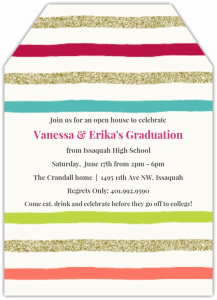 Joint Graduation Party Invitation Wording Inspirational Colorful Celebration Joint Graduation Invitation