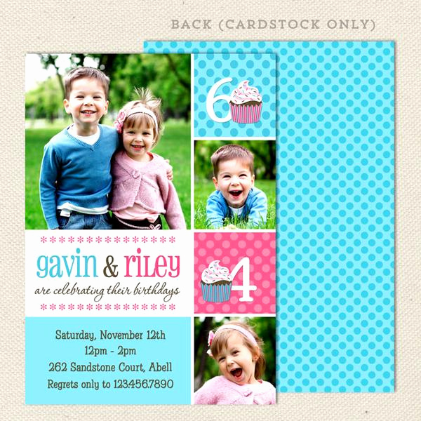 Joint Graduation Party Invitation Wording Lovely Fun Joint Birthday Party Invitations – Lil Sprout Greetings
