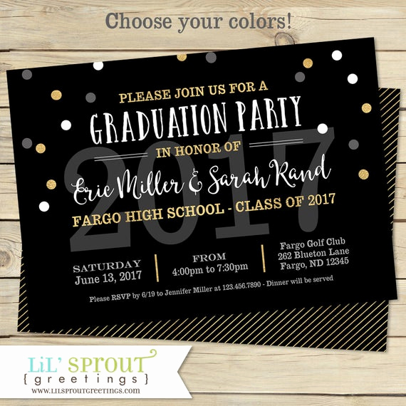 Joint Graduation Party Invitation Wording Lovely Printable Graduation Invitation Joint Graduation Party