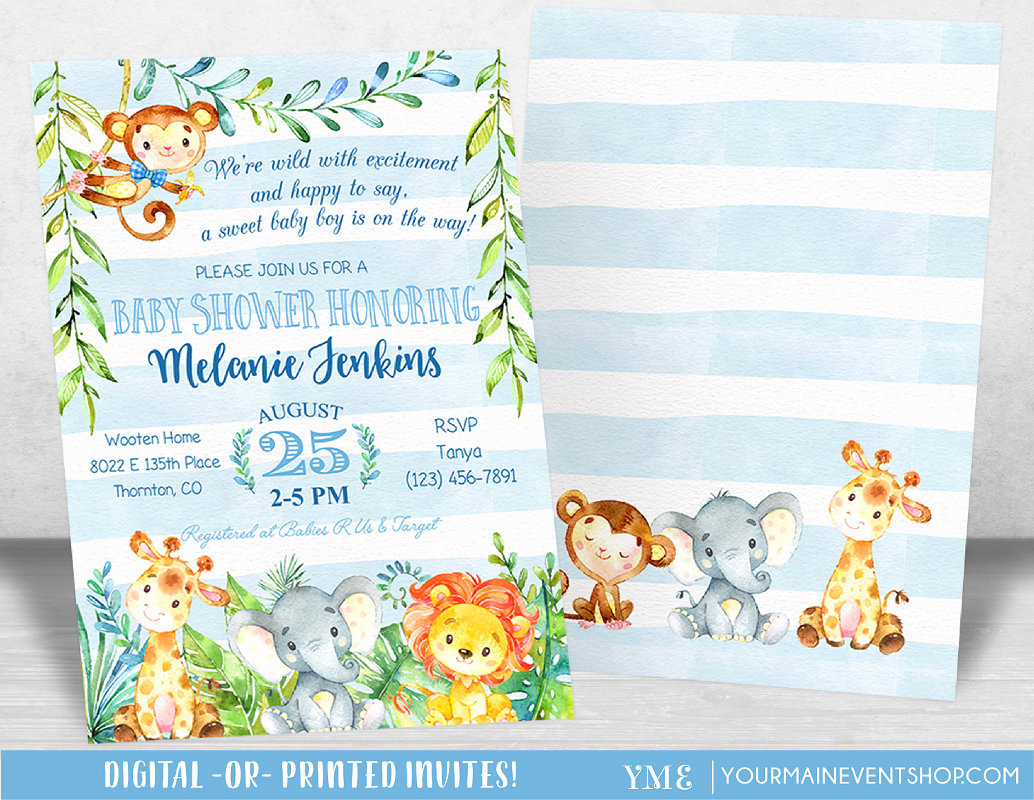 Jungle Baby Shower Invitation Best Of Jungle Baby Shower Invitation Boy Baby Shower Invitation