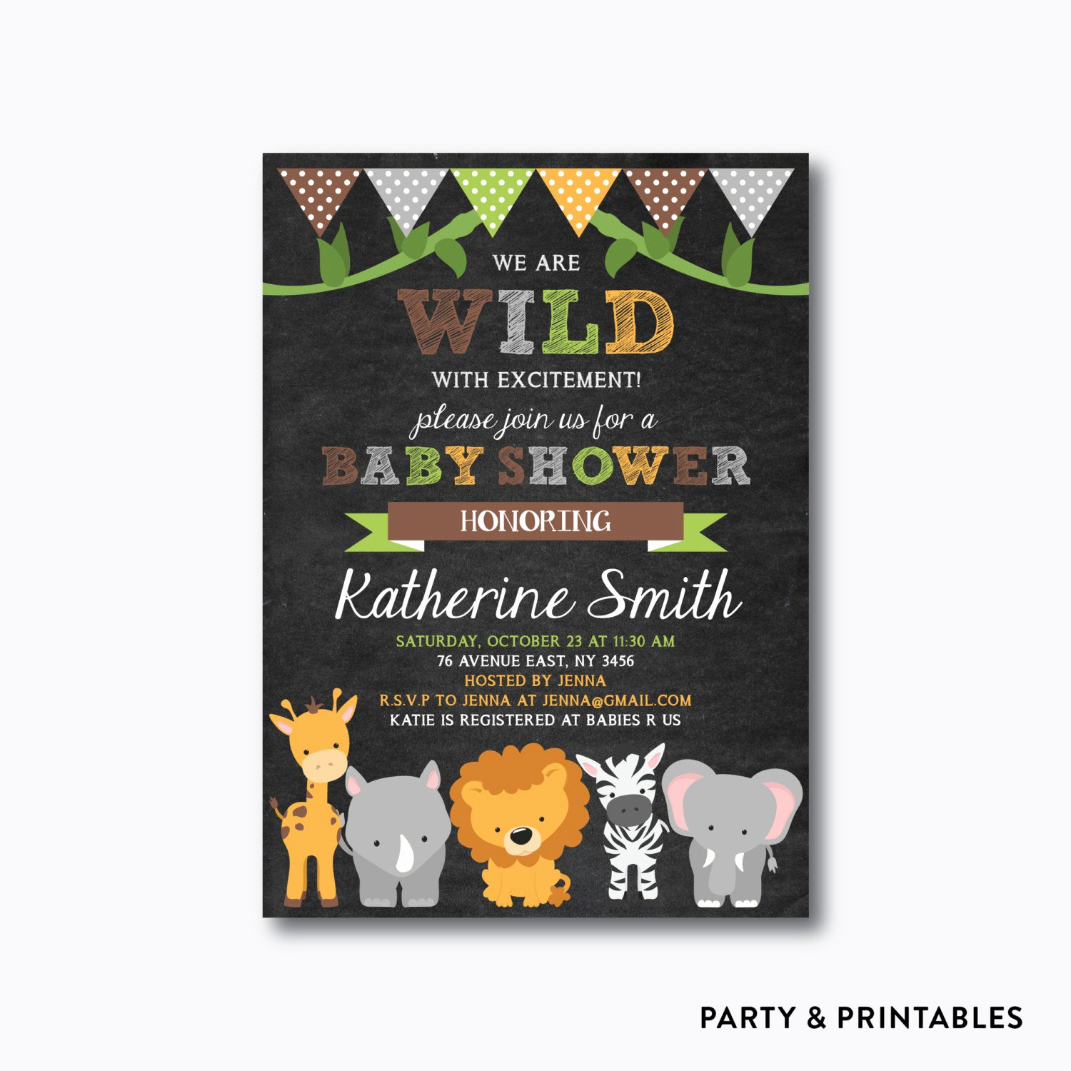 Jungle Baby Shower Invitation Best Of Safari Baby Shower Invitation Safari Invitation by Everjolly