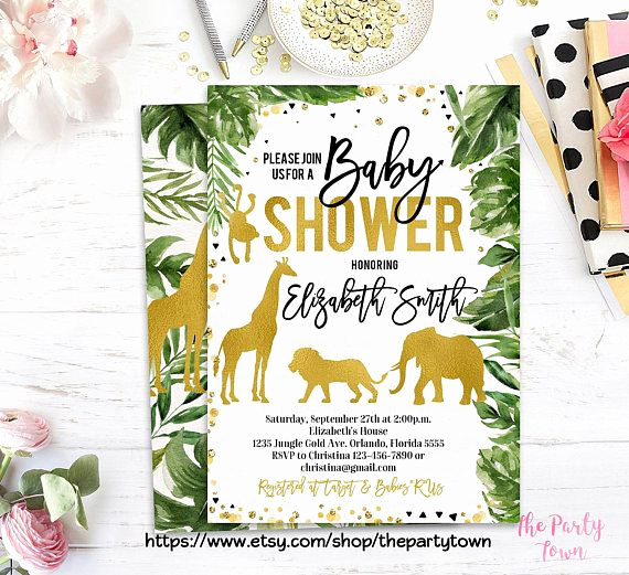 Jungle Baby Shower Invitation Fresh Best 25 Baby Shower Giraffe Ideas On Pinterest