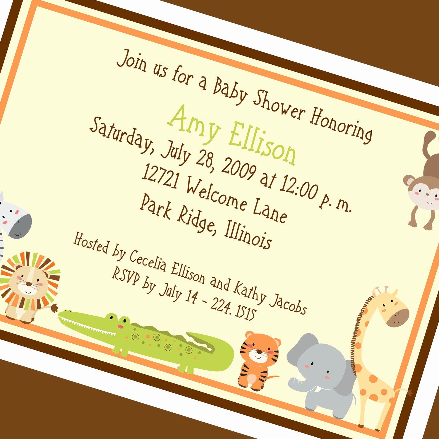 Jungle Baby Shower Invitation Lovely Jungle Baby Shower Invitation Printable Invitation Design