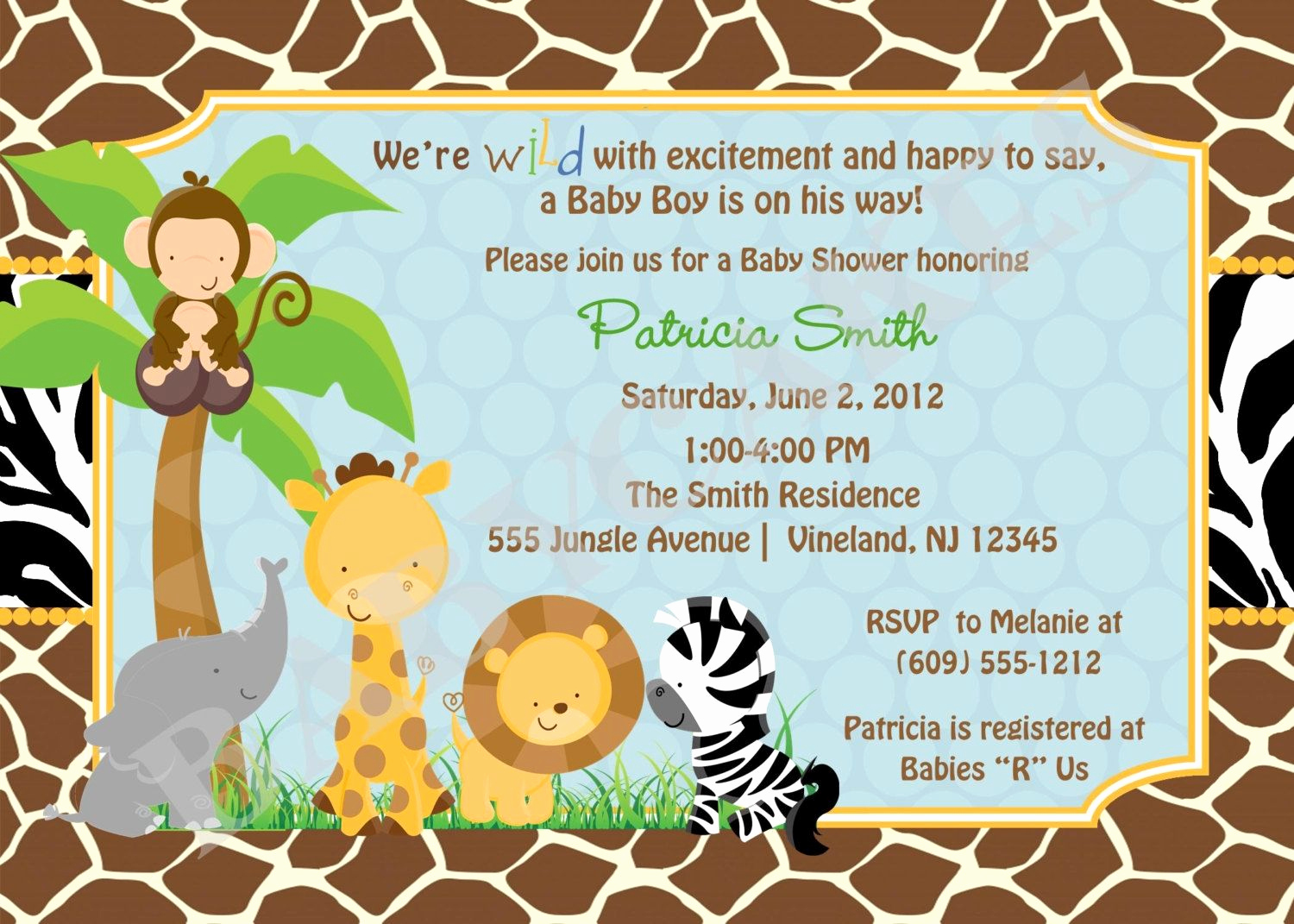 Jungle Baby Shower Invitation Luxury Free Printable Safari Baby Shower Invitations Safari Ba