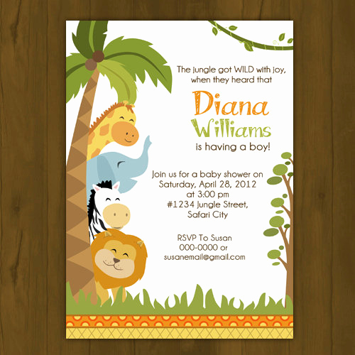Jungle Baby Shower Invitation New Safari Baby Shower Invitation On Storenvy