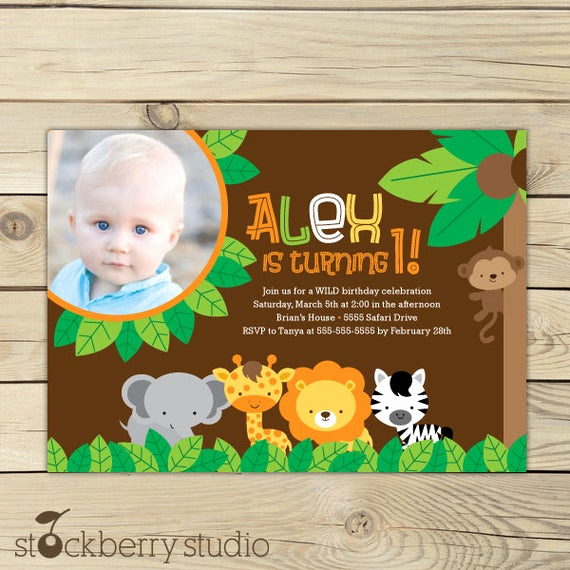 Jungle theme Birthday Invitation Awesome Jungle Safari Birthday Invitation Printable Jungle Party