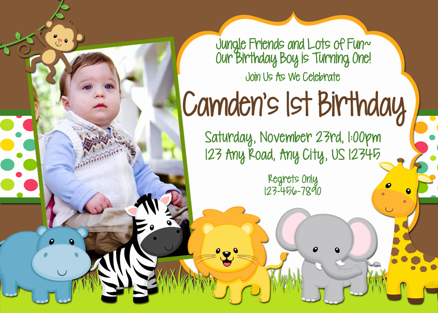Jungle theme Birthday Invitation Inspirational Chandeliers & Pendant Lights