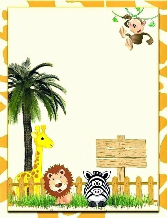 Jungle theme Birthday Invitation Lovely Jungle theme Birthday Invitations Free Printable Idea Zoo