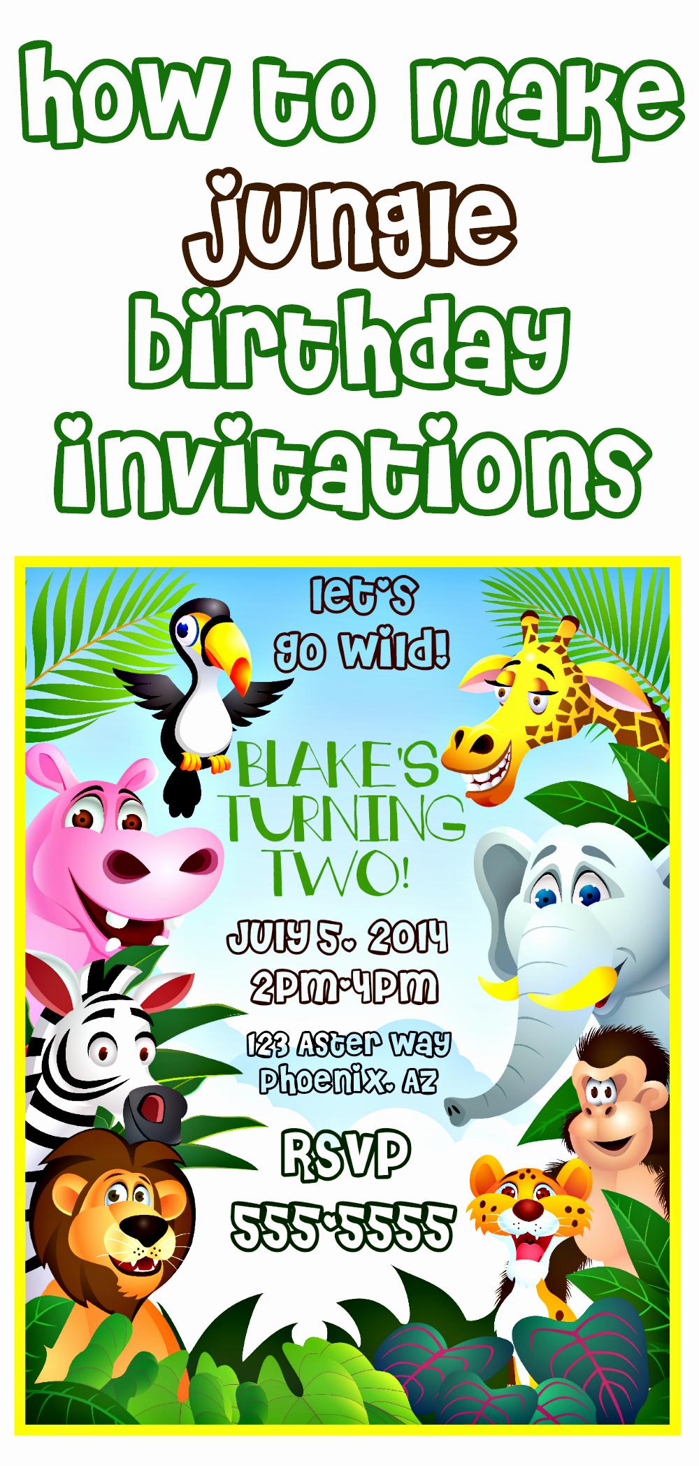 Jungle theme Birthday Invitation New How to Make Jungle themed Invitations