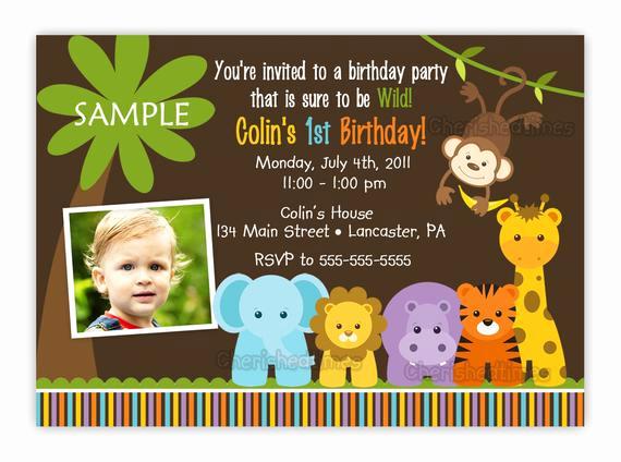 Jungle theme Birthday Invitation Unique Wild Jungle theme Birthday Party Invitation Boy Girl You
