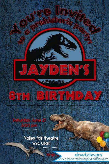 Jurassic World Invitation Template Free Awesome Jurassic World Birthday Invitation Jurassic Park