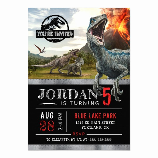 Jurassic World Invitation Template Free Awesome Jurassic World Dinosaur Birthday Invitation