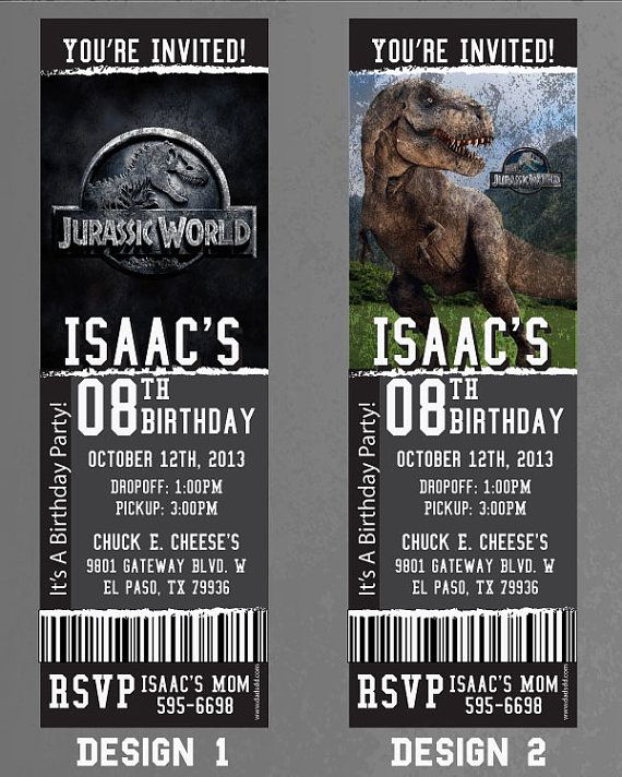 Jurassic World Invitation Template Free Best Of Custom Jurassic World Birthday event Invitation